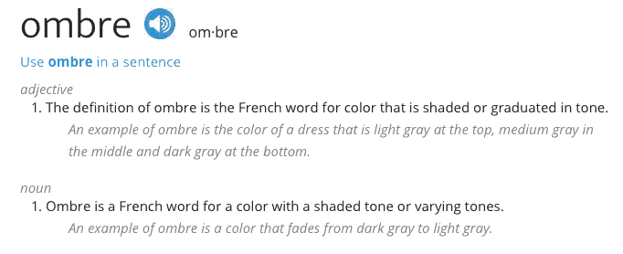 Meaning of ombre - Finding Colour Confidence